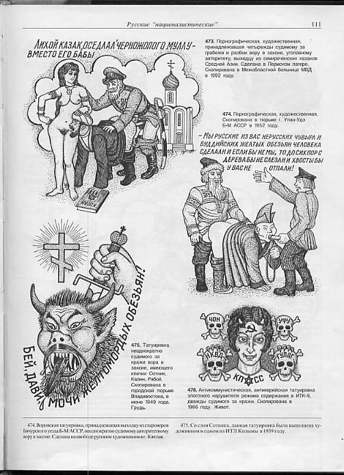 Порнографические и эротические татуировки заключенных
